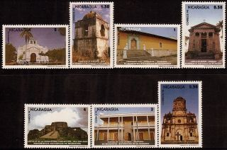 Nicaragua Historic Landmarks Sc 2079 - 2085 1995 photo
