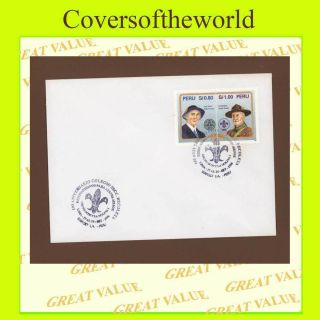 Peru 1996 Molina 1,  Scout Group.  Anniversary Cancel Cover photo