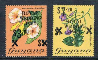 Guyana 1981 Royal Wedding Ovpt Sg 769c - 70d photo