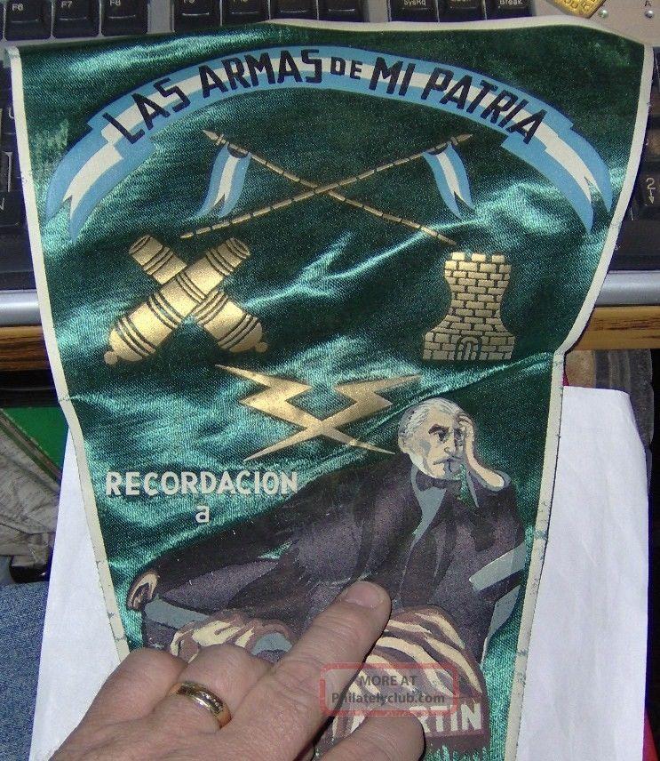Argentina,  Las Armas De Mi Patria,  San Martin,  Military,  Pennant, . Latin America photo