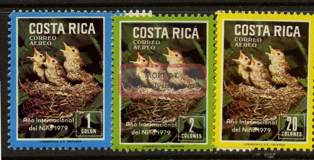 Costa Rica C747 - 9 Birds,  Year Of The Child Latin America photo