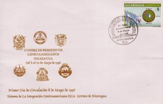 Nicaragua Sica Central American Integration System Sc 2192 Fdc 1996 photo