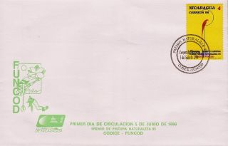 Nicaragua Red Parrot Sc 2196 Fdc 1996 photo