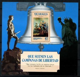 Nicaragua 1975 Sg Ms2015 American Independence M/s A30058 photo