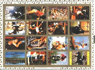 Uae Ajman Sheet Of 16 Sport - Munchen - Imperf On Cartoon Very Rare & Limited photo