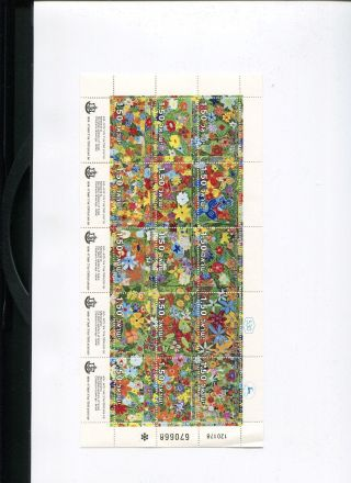 A Souvenir Flowers Full Sheet Of Memorial Day 23.  4.  1978 Stamp photo