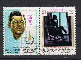 Saudi Arabia.  State Of Upperyafa.  John F.  Kennedy.  5th Anniv Death Of Jfk.  1968. photo