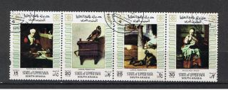 South Arabia.  State Of Upperyafa. .  1967.  Paintings.  Maes.  And Carel Fabricius.  Strip. photo