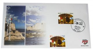 Malta Maltapost Israel Joint Issue The Knights Hospitaller Halls Valletta Acre photo