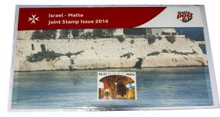 Malta Maltapost Israel Joint Issue The Knights Hospitaller Halls Valletta Pp photo