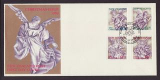 Zealand 1004 - 1007 Christmas 1990 Unaddressed Fdc T392 photo