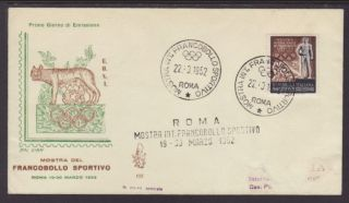Italy 559 Olympics 1953 Typed Addressed Fdc T264 photo