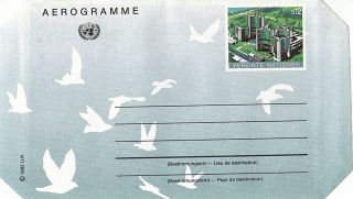 United Nations 1992 S12 Donaupark Vienna Airletter / Vienna photo