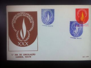 First Day Cover,  30th Anniversary Human ' S Rights Declaration photo