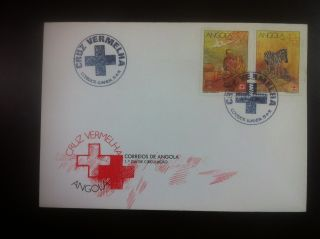 First Day Cover - Angola,  Red Cross photo
