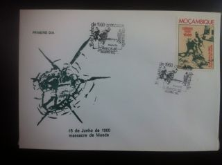 First Day Cover - Mozambique.  Massacre De Mueda. photo