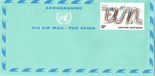 United Nations 1977 22c Airletter Emblem & Birds / York photo
