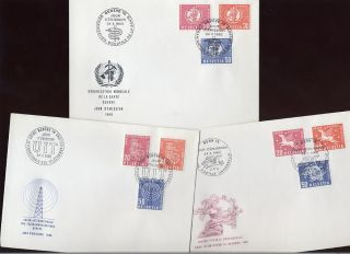 United Nations Geneva 1960 6 Diff.  Organisations Fdcs photo