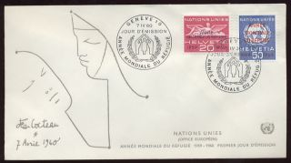 United Nations Geneva 1960 World Refugee Year Ill.  Fdc photo