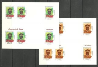 Swaziland 2 Blocs X6 - World Leaders - Michel 3417 - Proof Reproduction photo