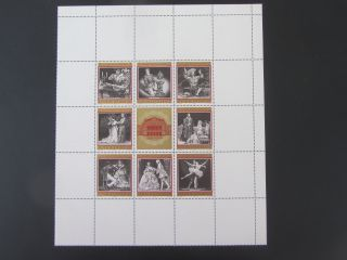 Austria 1969 Vienna State Opera 100th Anniversary Sheet Of 8 N/h photo