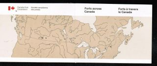 Canada 1985 34c Forts Booklet Cat 1059a photo
