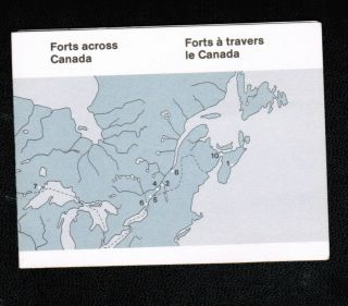 Canada 1983 32c Forts Booklet Cat 992a photo