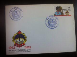 Fdc Angola - Opa ' S 25th Anniversary (pioneers Organization Agostinho Neto) photo