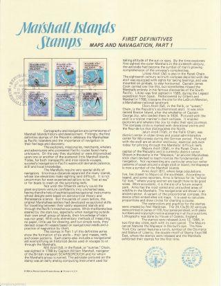 Marshall Islands 84 Maps & Navagation 1 Stamp Fd Card Mh120050 photo
