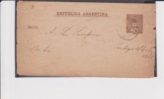 Argentina Stamped Envelope Half Cents 1889 (?) photo