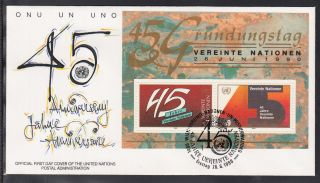 A - 36) Un Vienna 1990: Fdc With Block
