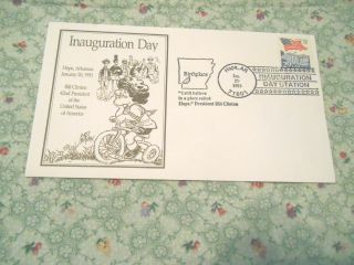 First Day Cover - Inauguration Day Hope,  Arkansas January 20,  1993 Bill Clinton photo