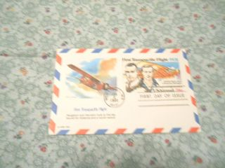 Vint.  First Day Issue:first Transpacific Flight - 1931 Usairmail 28 Cent Printed photo