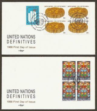 Un Ny 521/geneva 164 Definitives ' 88 (2) Artm. .  B4fdcs photo