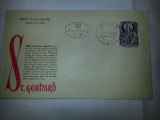 Scott 564 Austria St.  Gebhard 1949 First Day Cover photo