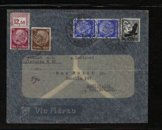 Germany Airmail Cover To Uruguay photo