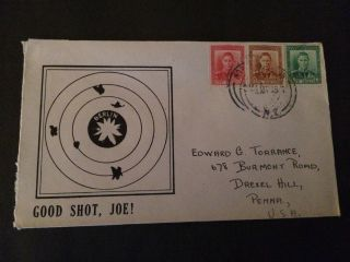 Wwii Patriotic Cover Zealand To Usa - Good Shot,  Joe 3v photo