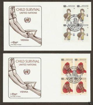 Un Vienna 55 - 56 Child Survival (2) Artmaster B4fdcs photo