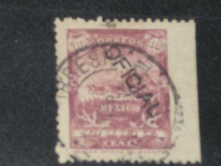 Mexico Stamp Official Handstamped Sc O45 ? Cv$500 ?,  F/u photo