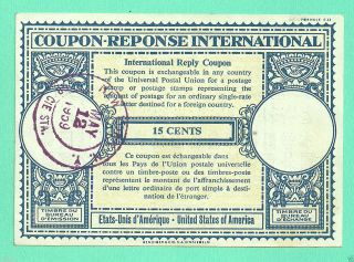 Coupon Reponse International United States Of America (york) C3 photo