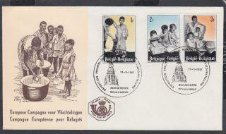 1967belgium Child Welfare Fdc;philatelic Exhibition Shs photo