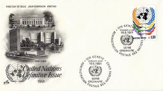 United Nations 1990 Fs1.  50 Definitive Value First Day Cover Geneva Shs photo