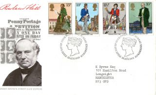 22 August 1979 Sir Rowland Hill Post Office First Day Cover Bureau Shs photo