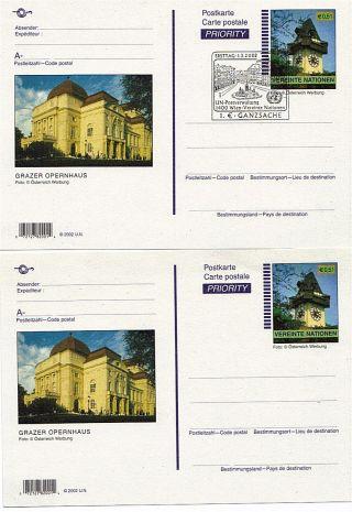 United Nations 2002 E0.  51 Euro View Postcards Fdi & photo