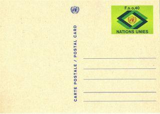 United Nations 1977 Fs 0.  40 Pre Paid Postcard / Geneva photo