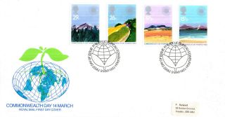 9 March 1983 Commonwealth Day Royal Mail First Day Cover Bureau Shs (a) photo
