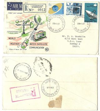 Australia 1968 Regd.  Airmail First Day Cover World Weather Watch Satellite Comm. photo