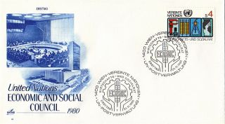 United Nations 1980 Economic & Social Council First Day Cover Vienna Shs photo