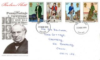 22 August 1979 Sir Rowland Hill Post Office First Day Cover Oxford Fdi photo