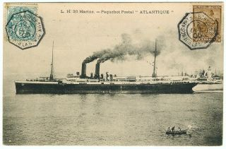Postcard Buenos Aires - Bordeaux Ss Atlantique,  1905 photo